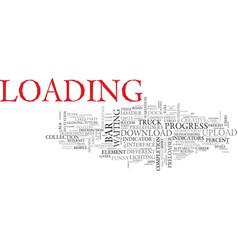 load word cloud concept vector image