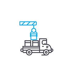 loading of products linear icon concept loading vector image