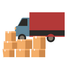 logistic company delivery cargo humanitarian vector image