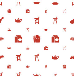 lunch icons pattern seamless white background vector image