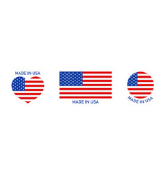 made in usa icon flag america for badge logo vector image