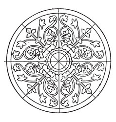 Medieval circular panel is a design found in laon vector
