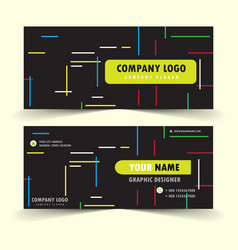 modern business card with black background vector image