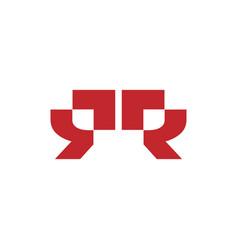 Monogram initial r r logo template black color vector