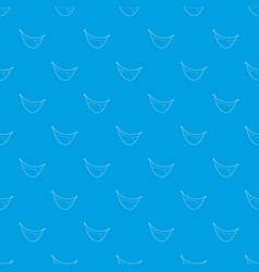 Mouth clown pattern seamless blue vector