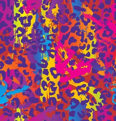 Neon splatter animal print vector
