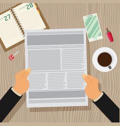 Newspaper flat vector