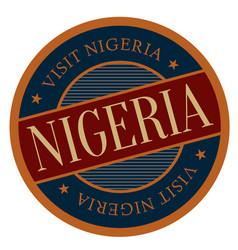 Nigeria geographic stamp vector