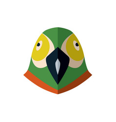 Parrot head icon in flat design vector