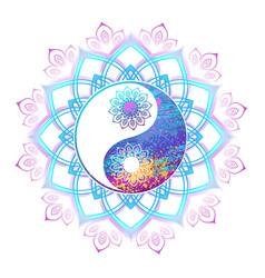 Pastel symbol of yin yang vector
