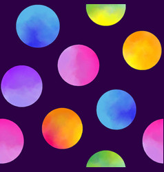 Pattern with watercolor circles vector