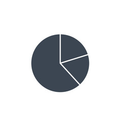 pie chart related glyph icon vector image