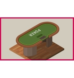 Poker table isometric flat vector