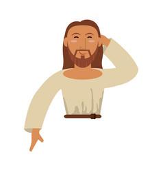 Portrait jesus christ catholic image vector