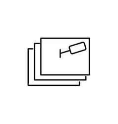 post it notes icon vector image