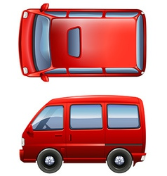 Red minivans vector image