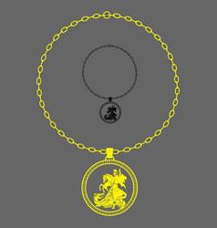 Saint george full chain vector