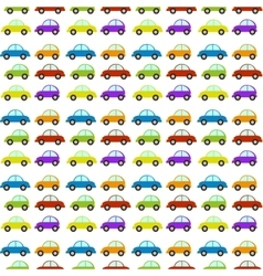 Seamless pattern with car vector
