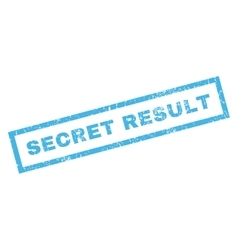 Secret Result Rubber Stamp vector