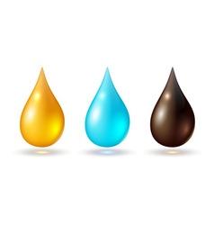Set multicolored drops vector