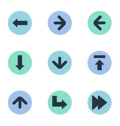 Set simple arrows icons vector
