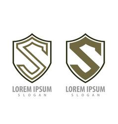 shield letter s set concept design symbol graphic vector image