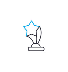 show business award thin line stroke icon vector image