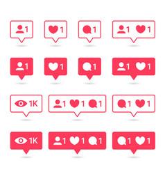 Social media or social network notification icon vector