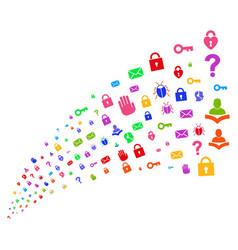 Source stream of secrecy symbols vector