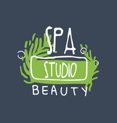 Spa beauty studio logo health and beauty care vector