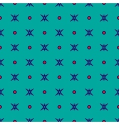 Star and polka dot geometric seamless pattern 51 vector image