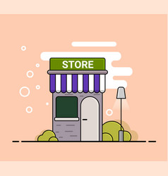 store in cartoon style vector image