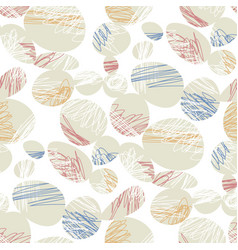 Stylized ovals and ellipses seamless pattern vector