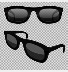 sunglasses on transparent background vector image