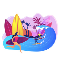 surfing school concept vector image