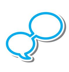 Thin line word bubble icon vector