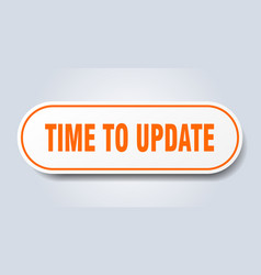 Time to update sign time to update rounded orange vector