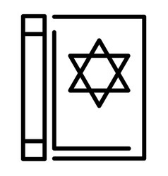 torah book icon outline style vector image
