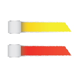 Torn paper color roll vector