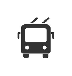 trolley bus front view glyph style icon vector image