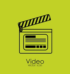 Video design vector image