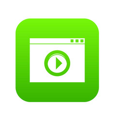video player icon digital green vector image