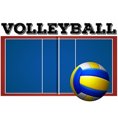 Volleyball court and ball vector image