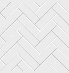 White herringbone parquet seamless pattern vector
