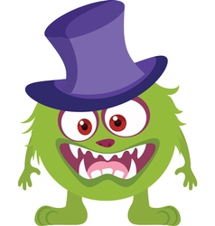 Witch Monster Icon vector image