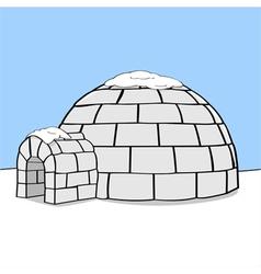 Cartoon igloo vector image vector image