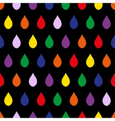 Colorful Rain Black Background vector image vector image