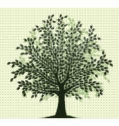 halftone tree vector image vector image