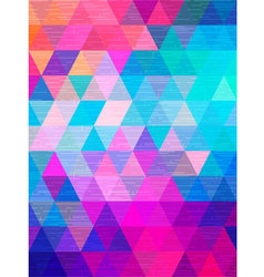 Line texture move on triangle background vector image