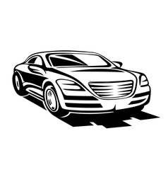 Abstract modern car vector image vector image